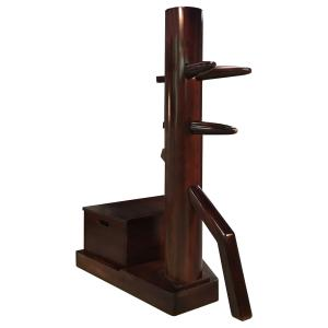Wing Chun dummy with Modern Free stand with storage box